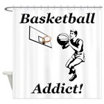 Basketball Addict Shower Curtain