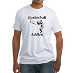 Basketball Addict Fitted T-Shirt