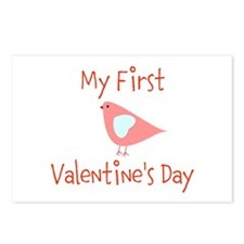 My First Valentines Day Postcards (Package of 8)