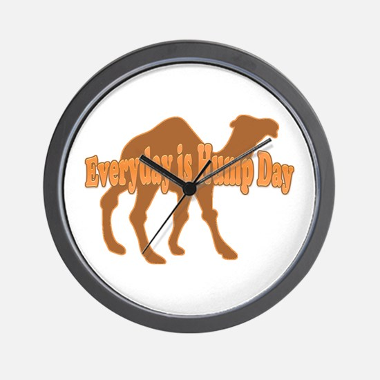 Hump Day Everyday Is Hump Day Wall Clock