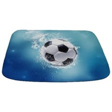 Soccer Water Splash Bathmat