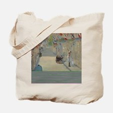 Edouard Manet - The Rue Mosnier with Flag Tote Bag