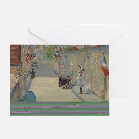 Edouard Manet - The Rue Mosnier with Greeting Card
