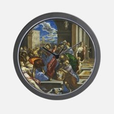 El Greco - Christ Cleansing the Temple Wall Clock