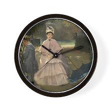 Eva Gonzales - Nanny and Child Wall Clock