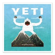 "Yeti Square Car Magnet 3"" x 3"""