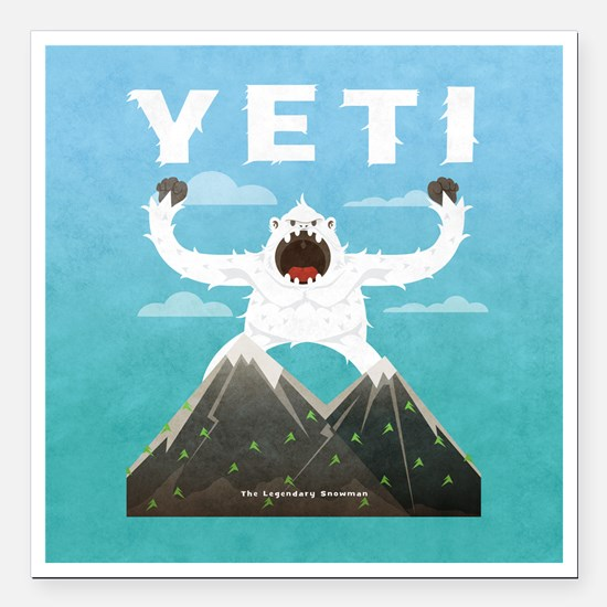 "Yeti Square Car Magnet 3"" x 3"""