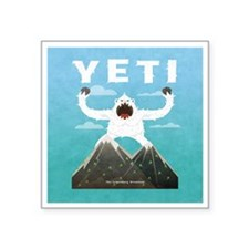 "Yeti Square Sticker 3"" x 3"""