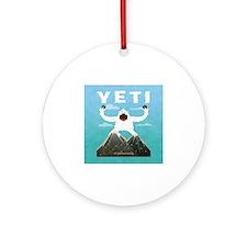 Yeti Round Ornament