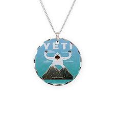 Yeti Necklace Circle Charm
