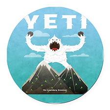 Yeti Round Car Magnet