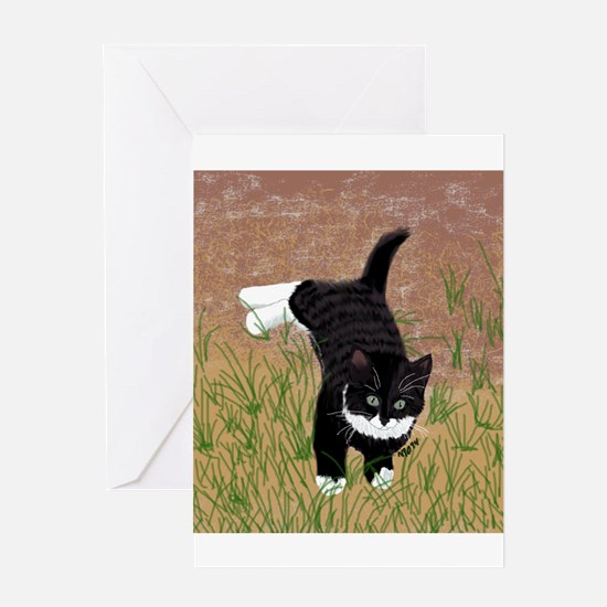 Mustache Kitten Greeting Cards
