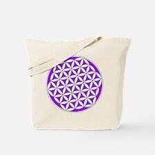 Flower of Life Purple Tote Bag