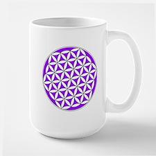 Flower of Life Purple Mug