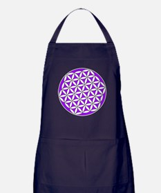 Flower of Life Purple Apron (dark)