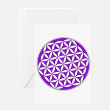 Flower of Life Purple Greeting Card