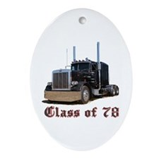 Class of 78 Oval Ornament