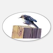 Hopping Bird Sticker (Oval)