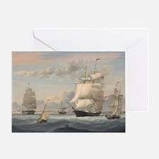 Fitz Henry Lane - New York Harbor Greeting Card