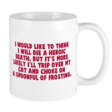 Heroic Death Cat Small Mug