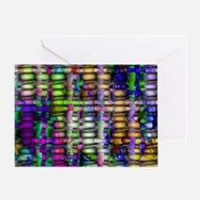Weaved Abstract Look Greeting Card