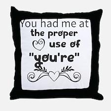 Unique Love curl Throw Pillow
