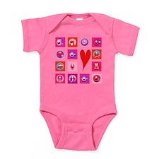 Valentine Monsters Baby Bodysuit