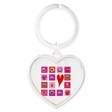 Valentine Monsters Heart Keychain
