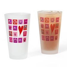 Valentine Monsters Drinking Glass