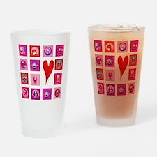 Valentine Monsters Drinking Glass