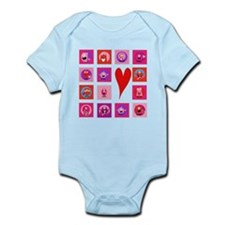 Valentine Monsters Infant Bodysuit