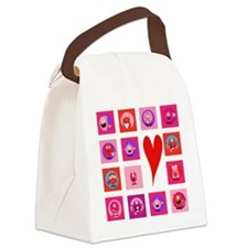 Valentine Monsters Canvas Lunch Bag