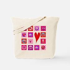 Valentine Monsters Tote Bag