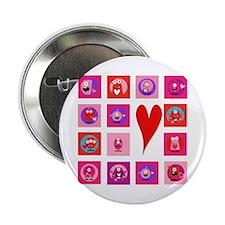 "Valentine Monsters 2.25"" Button"