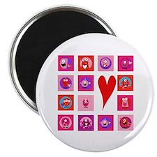 Valentine Monsters Magnet