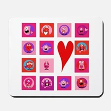 Valentine Monsters Mousepad