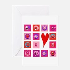 Valentine Monsters Greeting Card