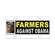 OBAMA FARMERS BUMPER_001 Aluminum License Plate