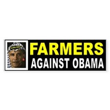 OBAMA FARMERS BUMPER_001 Bumper Bumper Sticker