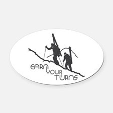 Ear Your Turns Oval Car Magnet