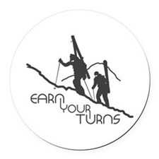 Ear Your Turns Round Car Magnet