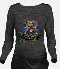 wild owl Long Sleeve Maternity T-Shirt