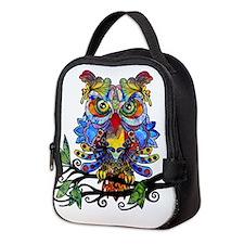 wild owl Neoprene Lunch Bag