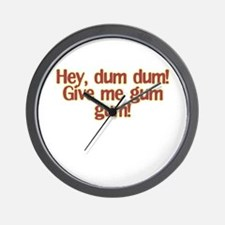 dum dum Wall Clock
