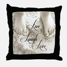 Feet In The Sand Throw Pillow