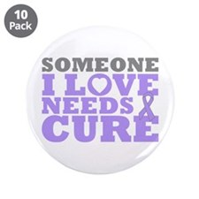 """General Cancer Needs A Cure 3.5"""" Button (10 pack)"""