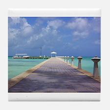 Rum Point Pier Tile Coaster