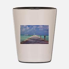 Rum Point Pier Shot Glass