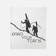 Earn Your Turns Throw Blanket