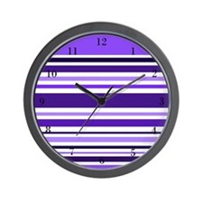 Purple Striped Wall Clock